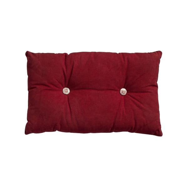 Vankúš s výplňou Button 65x40 cm, červený