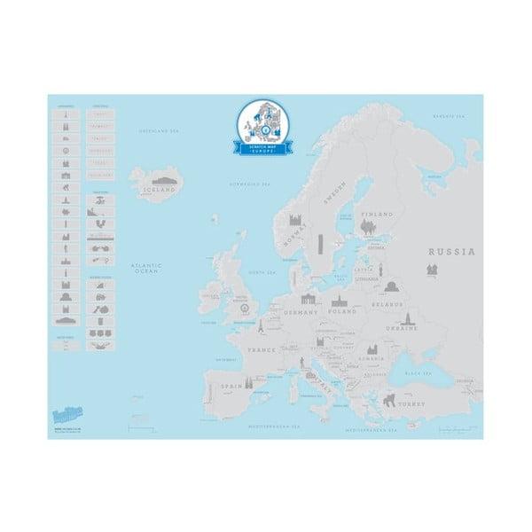 Stieracia mapa Európy Luckies of London