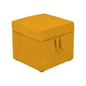 Žlutá taburetka s úložným prostorem KICOTI Cube