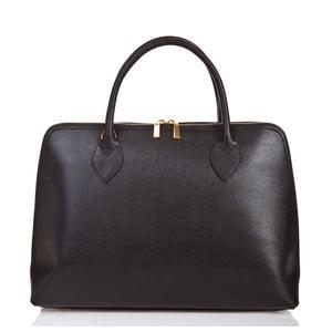 Čierna kožená kabelka Massimo Castelli Liana