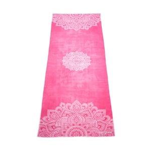 Ružový uterák na jogu Yoga Design Lab Hot Mandala, 340 g