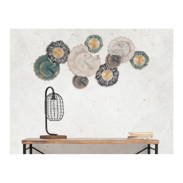 Železná nástenná dekorácia s kvetinovými motívmi Mauro Ferretti Obly, šírka 97,5 cm
