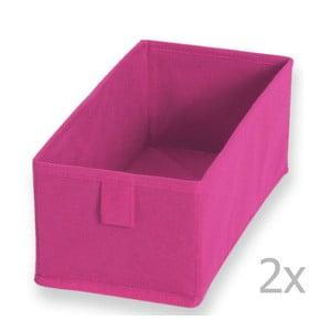Sada 2 ružových textilných boxov Jocca, 28 x 13 cm