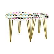 Sada 2 odkladacích stolíkov Triangle Pastel, 35 cm + 49 cm