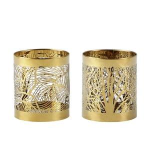 Sada 2 svietnikov KJ Collection Gold Stain, 7 cm