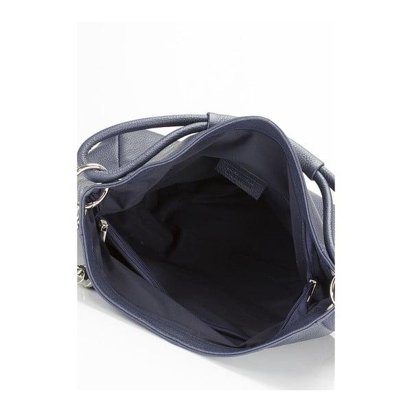 Tmavomodrá kožená kabelka Lisa Minardi Herta