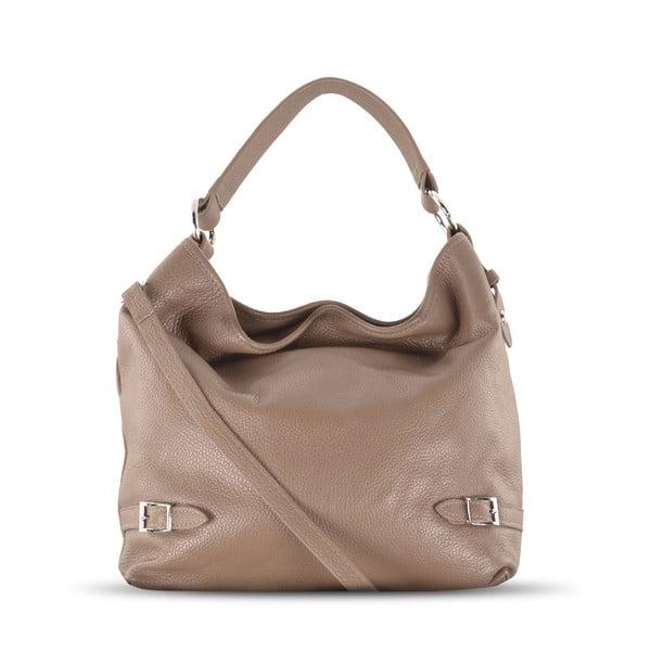 Kožená kabelka Audrey, béžová