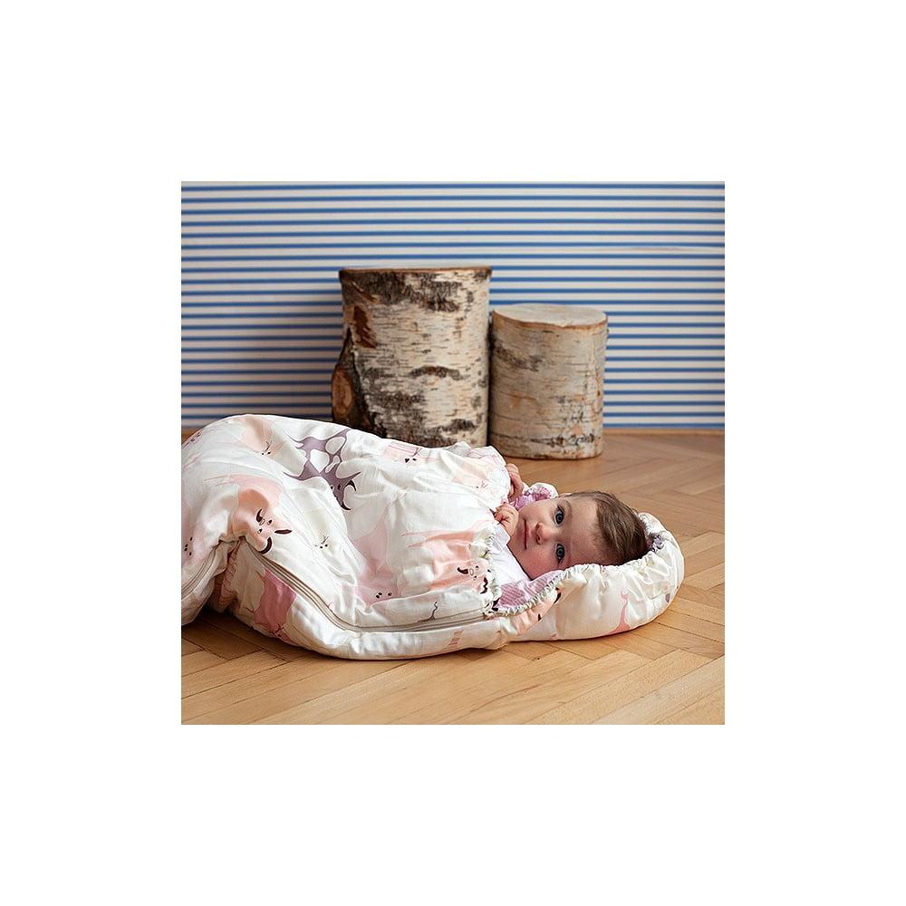 Detský spací vak Bartex Ružové zvieratká, 70 × 180 cm