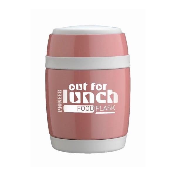Nádoba na polievku s lyžicou Pink Lunch, 480 ml