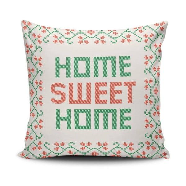 Vankúš s výplňou Sweet Home, 45x45 cm