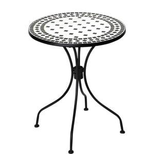 Čierno-biely stôl s mozaikou Butlers Palazzo