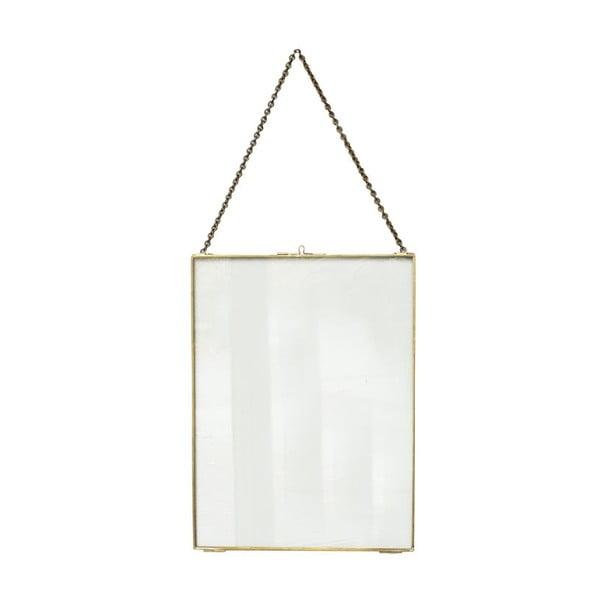 Závesný rámik ComingB Glass Brass, 30x40 cm
