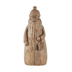 Hnedá dekoratívna soška KJ Collection Santa Claus, 24,5 cm