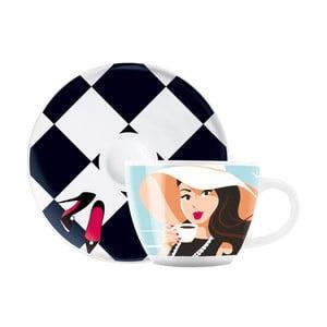 Set porcelánovej šálky a tanierika na espresso Ritzenhoff Astrid Mueller, 8 cl