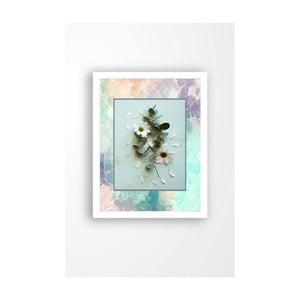 Nástenný obraz na plátne v bielom ráme Tablo Center Garden, 29 × 24 cm