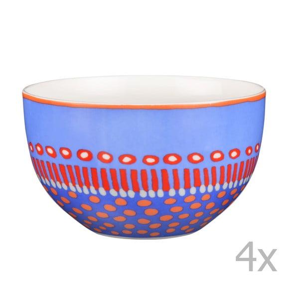 Sada 4 porcelánových misiek Oilily 12 cm, modrá