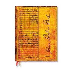 Denní diár na rok 2019 Paperblanks Bach, 18 x 23 cm