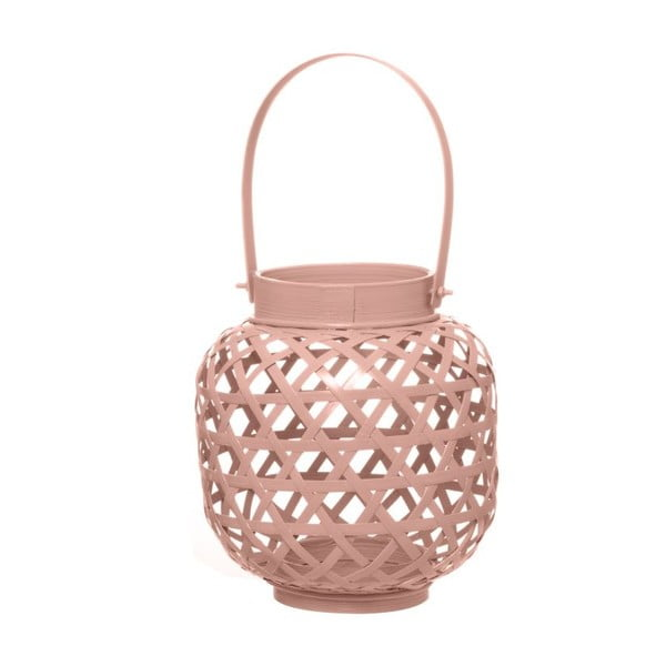 Bambusový lampáš Web Dusty Pink