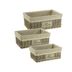 Set 3 prútených boxov Cosas de Casa Chic Home, tmavý