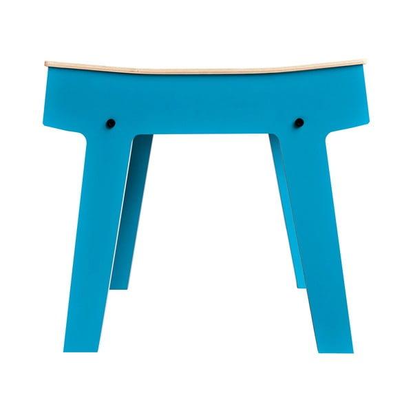 Modrá stolička/stolík s úložným priestorom rform Pi