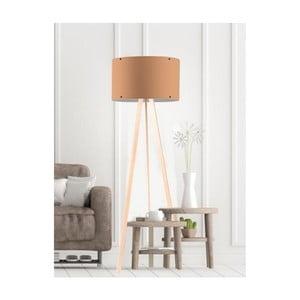 Béžová stojacia lampa Woddy