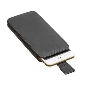 Čierne kožené puzdro na iPhone 6/6S Packenger