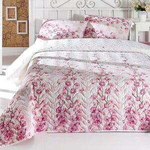Set prešívanej prikrývky cez posteľ a dvoch vankúšov Double 215,200x220cm