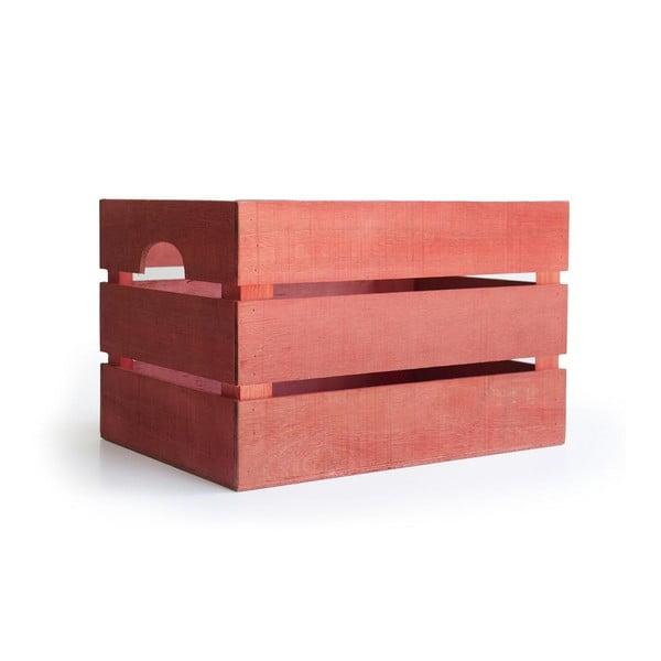 Rustikálna drevená bednička Really Nice Things, červená