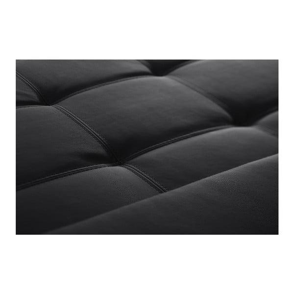 Čierna pohovka Modernist Symbole, ľavý roh