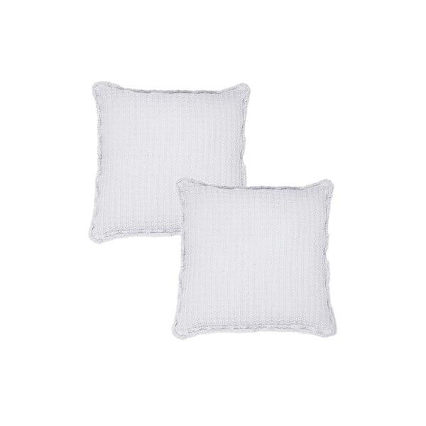 Sada 2 bielych obliečok na vankúš Casa Di Bassi, 45x45cm