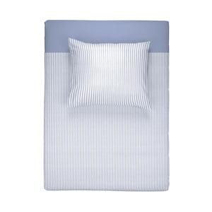 Modré flanelové obliečky na jednolôžko Walra Ellon, 135×200cm