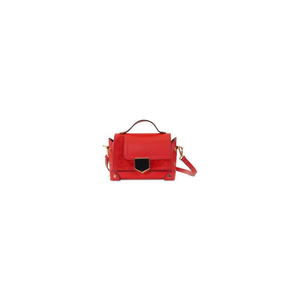 Červená kožená kabelka Infinitif Chelsea 24d6623bb71