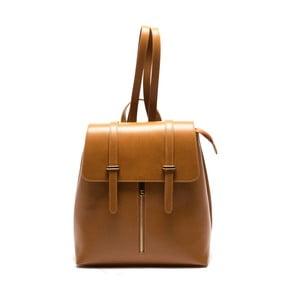 Hnedý kožený batoh Sofia Cardoni Noemi