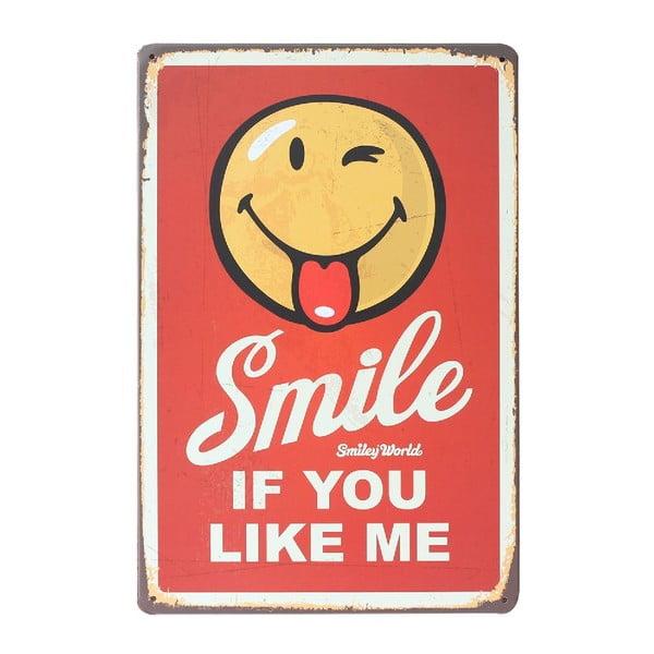Ceduľa Smiling, 20x30 cm