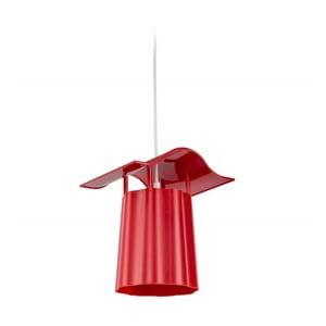 Červený závesný vonkajší lampáš Luciana
