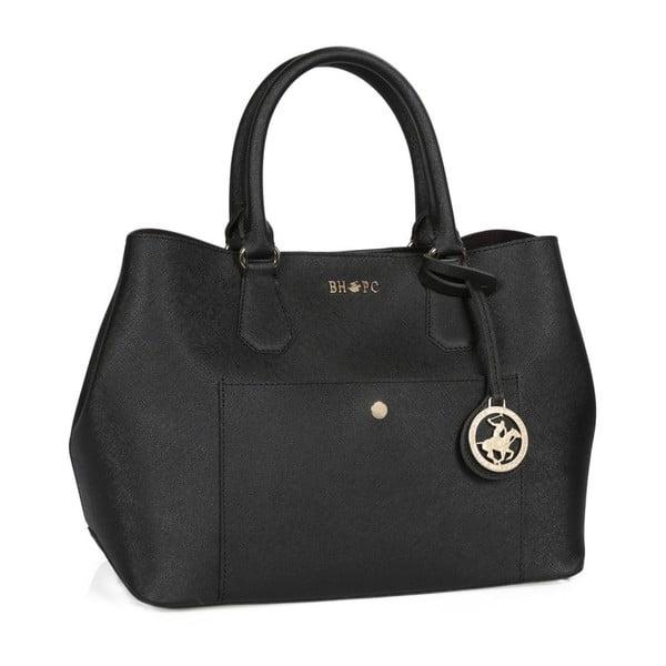 Čierna kabelka z eko kože Beverly Hills Polo Club Mona