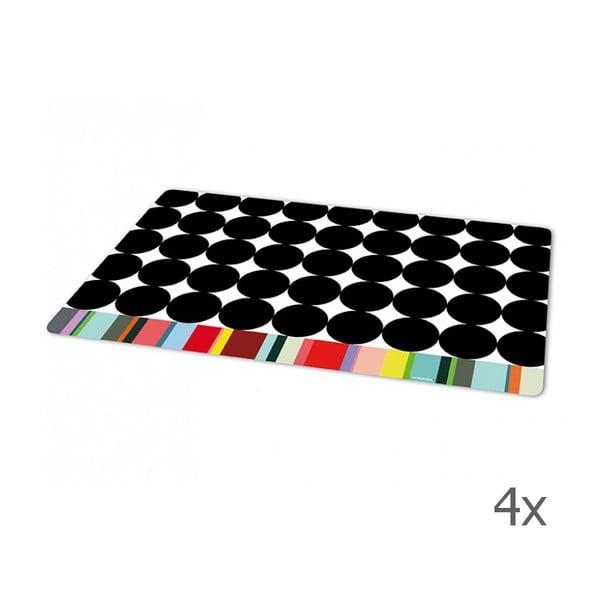 Sada 4 prestieraní Scoop, 44x28,4 cm