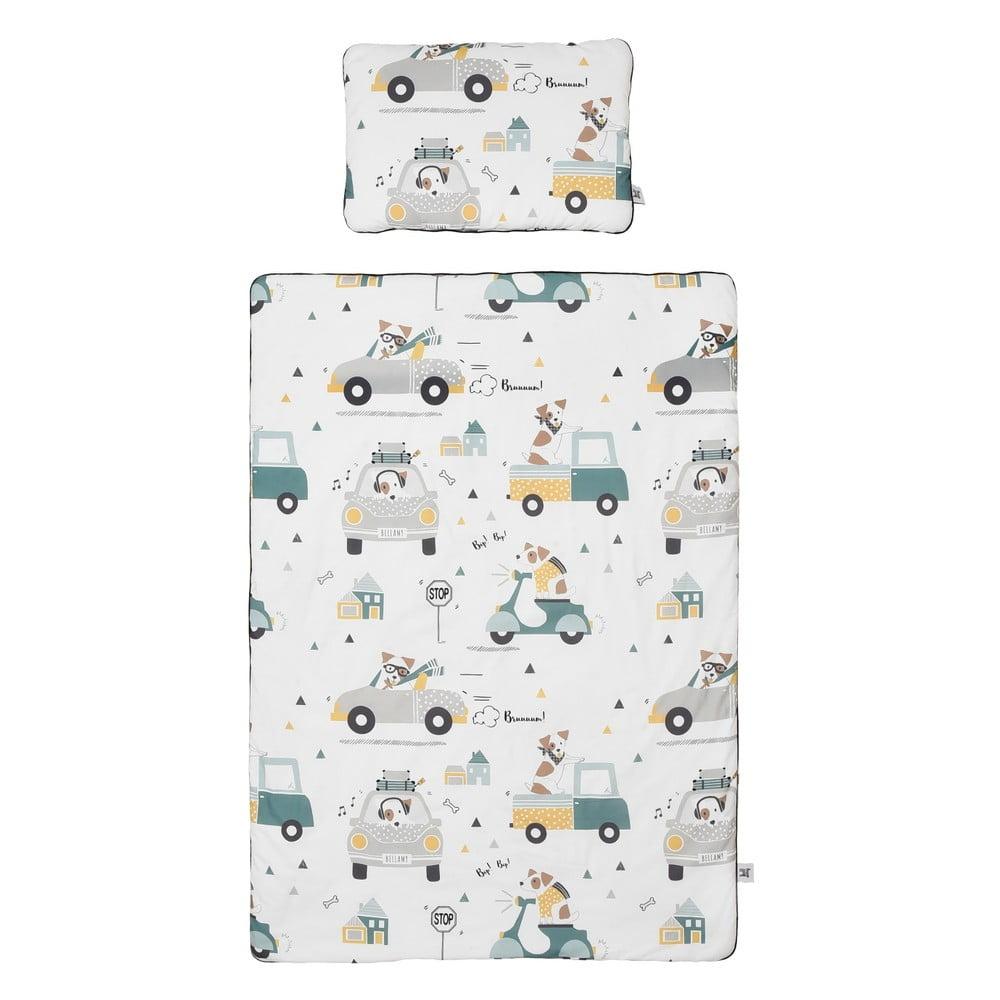 Set detskej bavlnenej prikrývky s vankúšom BELLAMY Jackie, 100 × 135 cm