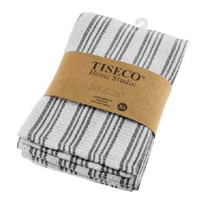 Sada 4 sivých bavlnených utierok Tiseco Home Studio, 50 × 70 cm
