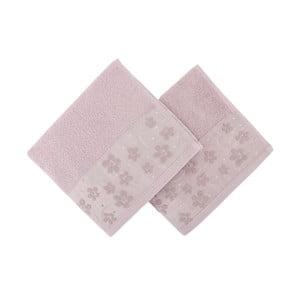 Sada 2 ružových uterákov Papaya, 50×90 cm