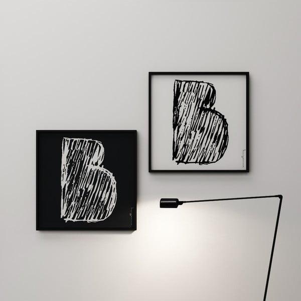 Plagát Litera B, 50x50 cm