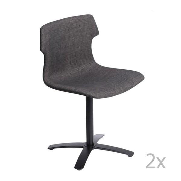 Sada 2 stoličiek D2 Techno One, čalúnené, hnedé