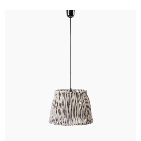 Stropné svetlo Line, 40x27 cm, sivé