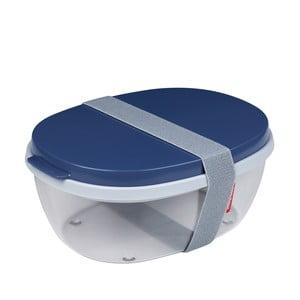 Šalátový box s tmavomodrým vrchnákom Rosti Mepal Ellipse