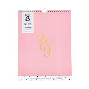 Nástenný kalendár na rok 2019 Busy B Fashion
