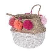 Pletený košík Peach Pom Pom