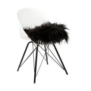 Čierny dekoratívny vankúš Woooly Icelandic