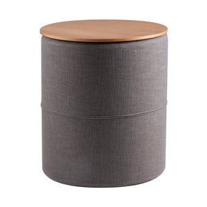 Tmavosivý odkladací stolík sdoskou vdekore dubového dreva sømcasa Leo