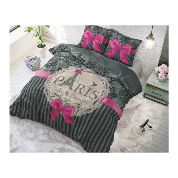 Bavlnené obliečky na jednolôžko Sleeptime Love Paris, 140×220 cm