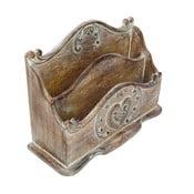 Stojan na listy z mangového dreva Antic Line Letter Vintage